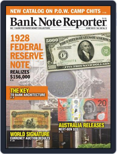 Banknote Reporter June 1st, 2019 Digital Back Issue Cover