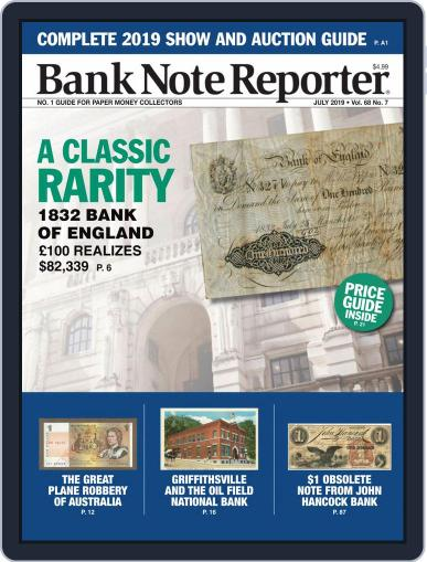 Banknote Reporter July 1st, 2019 Digital Back Issue Cover
