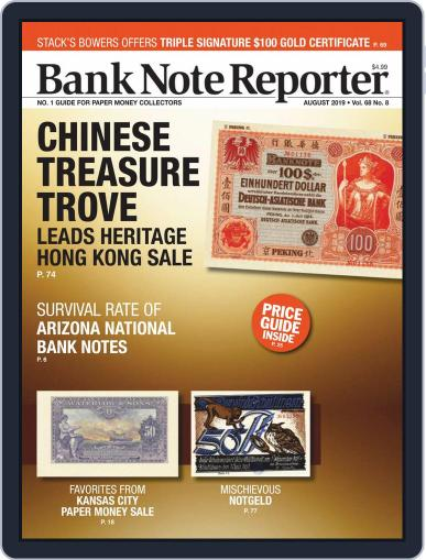 Banknote Reporter August 1st, 2019 Digital Back Issue Cover