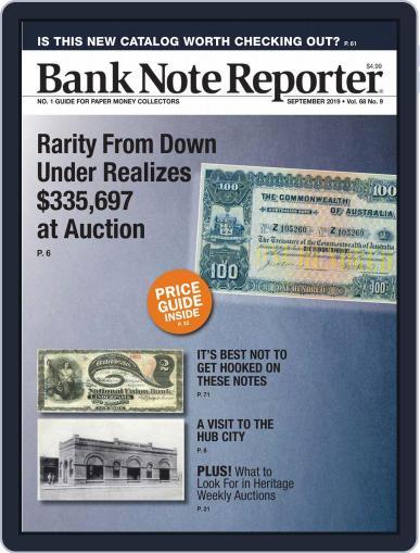 Banknote Reporter September 1st, 2019 Digital Back Issue Cover