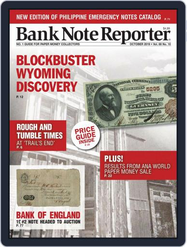 Banknote Reporter October 1st, 2019 Digital Back Issue Cover