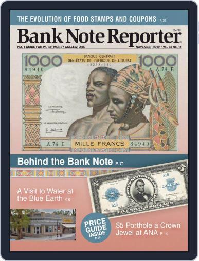 Banknote Reporter November 1st, 2019 Digital Back Issue Cover
