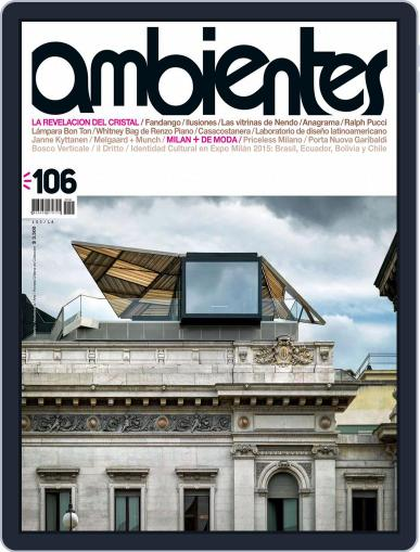 Revista Ambientes July 1st, 2015 Digital Back Issue Cover