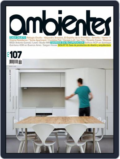 Revista Ambientes October 1st, 2015 Digital Back Issue Cover