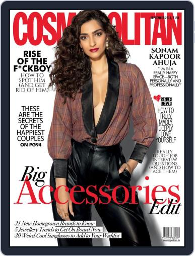 Cosmopolitan India (Digital) September 1st, 2019 Issue Cover