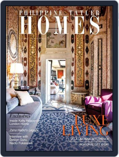 Philippine Tatler Homes (Digital) December 1st, 2016 Issue Cover