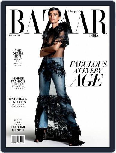 Harper's Bazaar India June 13th, 2014 Digital Back Issue Cover