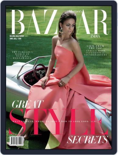Harper's Bazaar India June 9th, 2015 Digital Back Issue Cover
