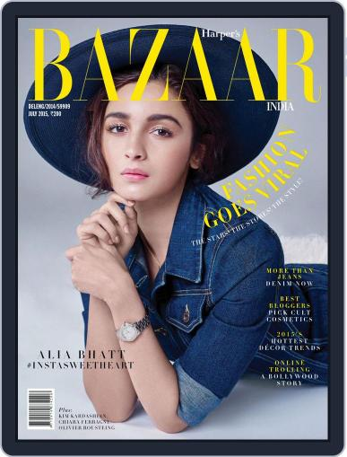 Harper's Bazaar India July 7th, 2015 Digital Back Issue Cover
