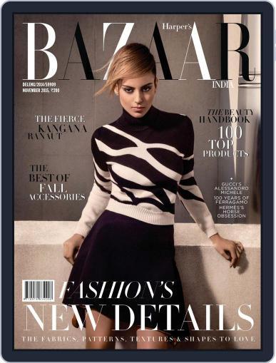 Harper's Bazaar India November 1st, 2015 Digital Back Issue Cover