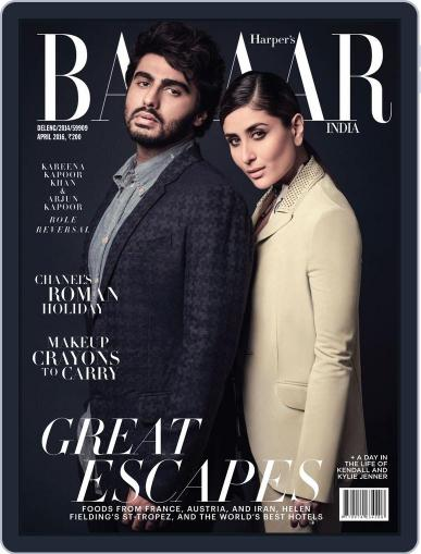 Harper's Bazaar India April 1st, 2016 Digital Back Issue Cover