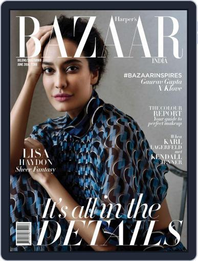 Harper's Bazaar India June 1st, 2016 Digital Back Issue Cover