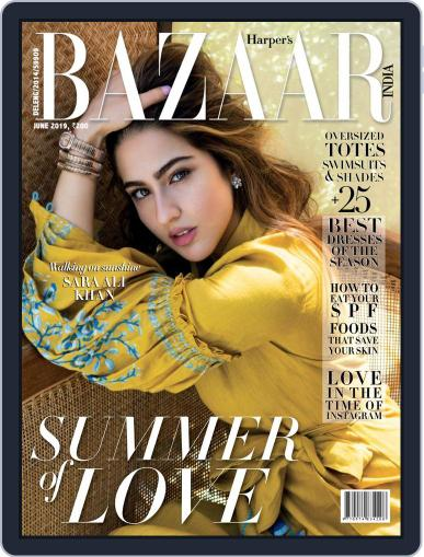 Harper's Bazaar India June 1st, 2019 Digital Back Issue Cover