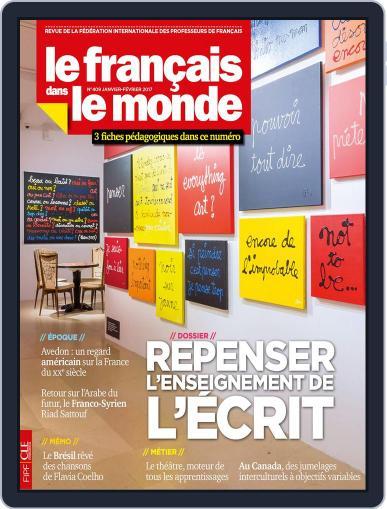 Le Français Dans Le Monde January 1st, 2017 Digital Back Issue Cover