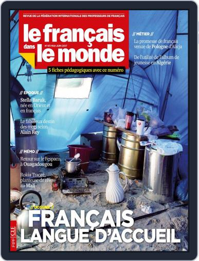 Le Français Dans Le Monde May 1st, 2017 Digital Back Issue Cover