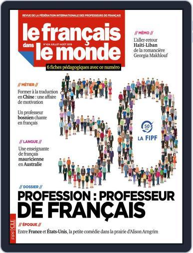 Le Français Dans Le Monde July 1st, 2019 Digital Back Issue Cover