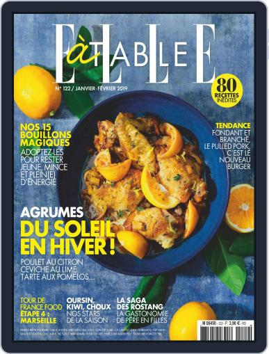 ELLE à Table January 1st, 2019 Digital Back Issue Cover