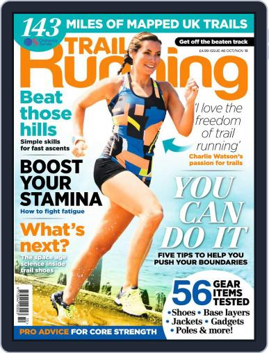 Trail Running October 1st, 2018 Digital Back Issue Cover