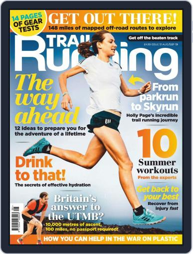 Trail Running August 1st, 2019 Digital Back Issue Cover
