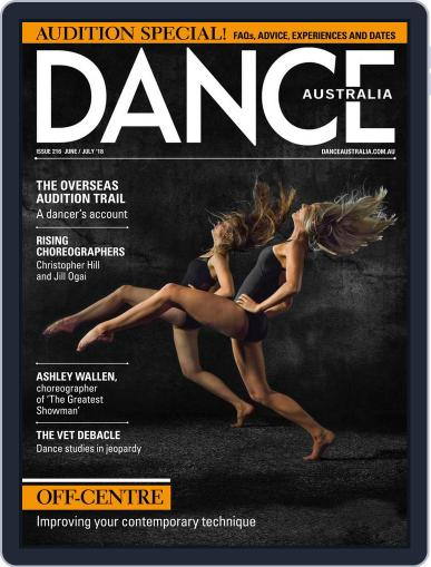 Dance Australia June 1st, 2018 Digital Back Issue Cover