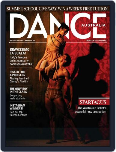 Dance Australia October 1st, 2018 Digital Back Issue Cover