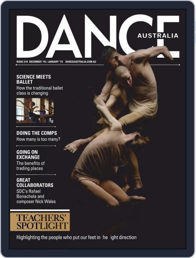 Dance Australia December 1st, 2018 Digital Back Issue Cover