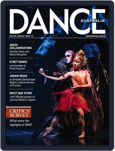 Dance Australia February 1st, 2019 Digital Back Issue Cover