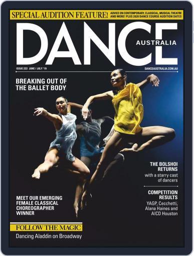 Dance Australia June 1st, 2019 Digital Back Issue Cover