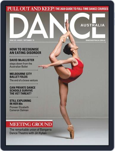Dance Australia August 1st, 2019 Digital Back Issue Cover