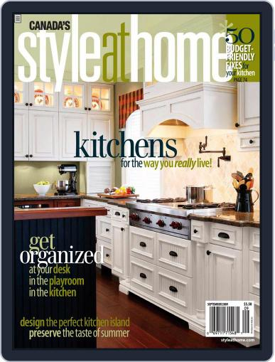 Style At Home Canada (Digital) August 4th, 2009 Issue Cover