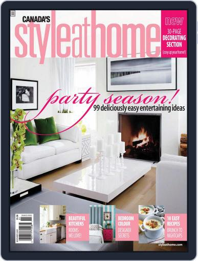 Style At Home Canada (Digital) September 22nd, 2009 Issue Cover