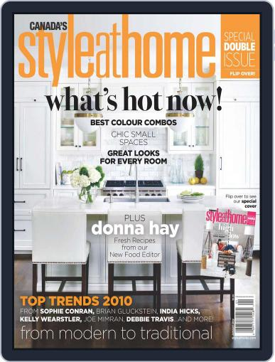 Style At Home Canada (Digital) November 24th, 2009 Issue Cover