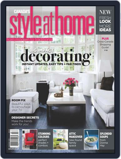 Style At Home Canada (Digital) December 22nd, 2009 Issue Cover