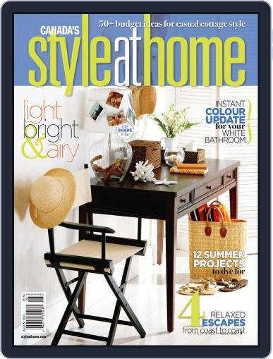 Style At Home Canada (Digital) August 1st, 2010 Issue Cover