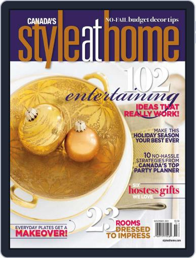 Style At Home Canada (Digital) September 24th, 2010 Issue Cover