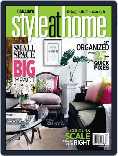 Style At Home Canada (Digital) February 8th, 2011 Issue Cover