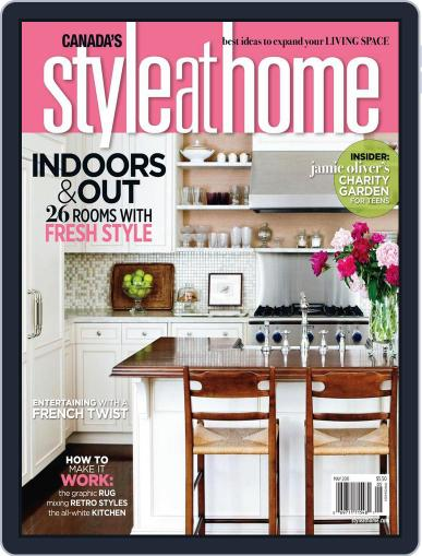 Style At Home Canada (Digital) March 25th, 2011 Issue Cover
