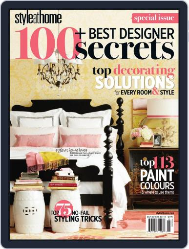 Style At Home Canada (Digital) April 28th, 2011 Issue Cover