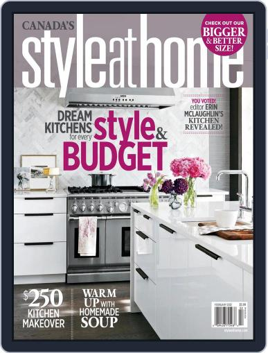 Style At Home Canada (Digital) January 3rd, 2012 Issue Cover