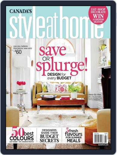 Style At Home Canada (Digital) May 3rd, 2012 Issue Cover