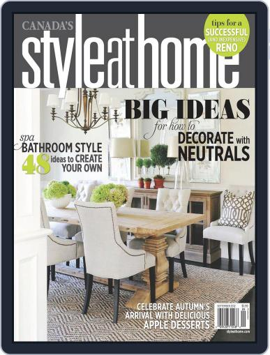 Style At Home Canada (Digital) August 1st, 2012 Issue Cover