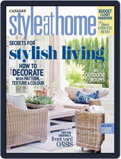 Style At Home Canada (Digital) April 26th, 2016 Issue Cover