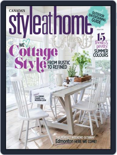 Style At Home Canada (Digital) June 28th, 2016 Issue Cover
