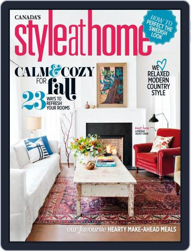 Style At Home Canada (Digital) October 1st, 2016 Issue Cover