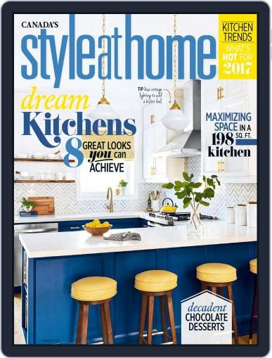 Style At Home Canada (Digital) February 1st, 2017 Issue Cover