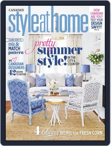 Style At Home Canada (Digital) July 1st, 2017 Issue Cover