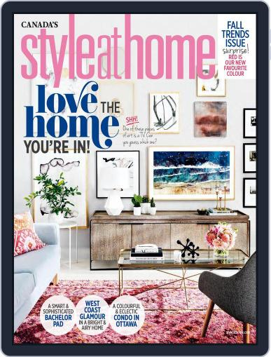 Style At Home Canada (Digital) October 1st, 2017 Issue Cover