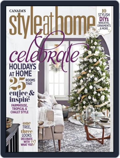 Style At Home Canada (Digital) December 1st, 2017 Issue Cover