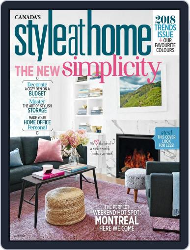 Style At Home Canada (Digital) January 1st, 2018 Issue Cover