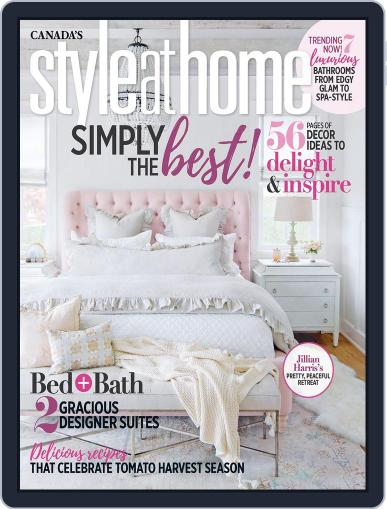 Style At Home Canada (Digital) September 1st, 2018 Issue Cover